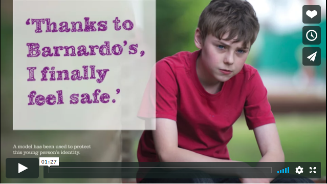Barnardo\'s video screen